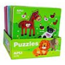 Puzzle fusta animals granja 3pcs.